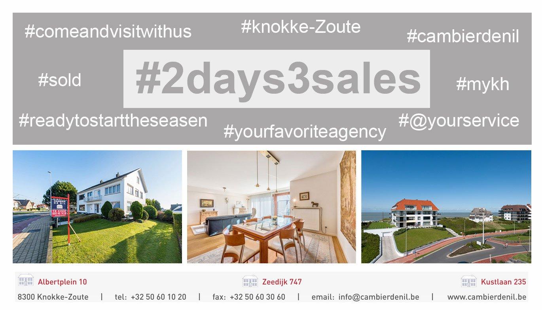 Cambier De Nil - 2 days = 3 sales