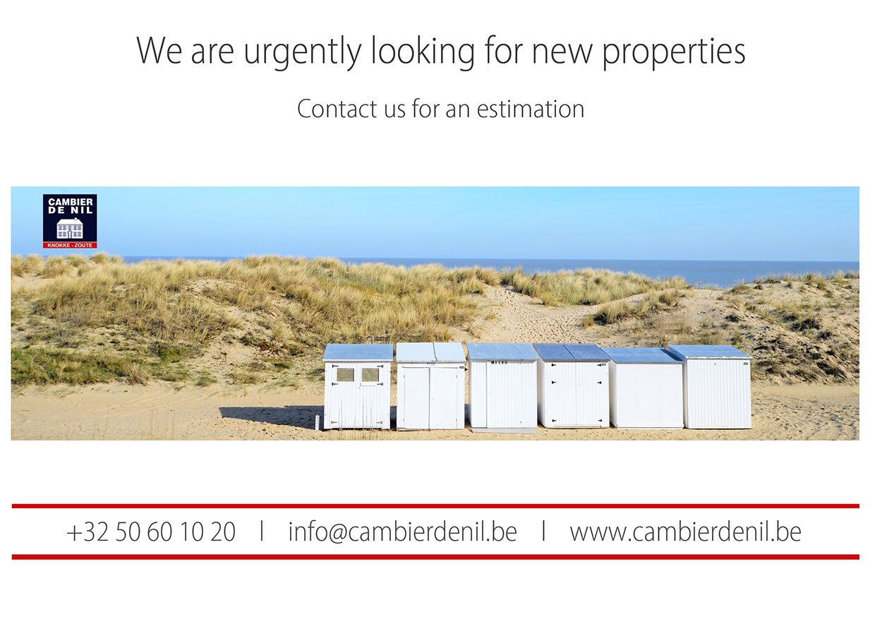 Cambier De Nil - We are urgently looking for new properties