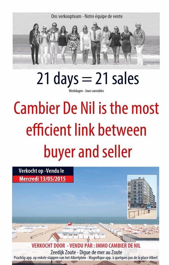 Cambier De Nul - 21 JOURS = 21 VENTES